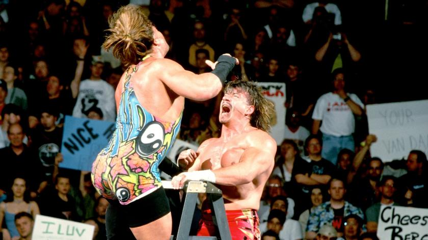 A fan attacked Eddie Guerrero during a revered ladder match against Rob Van Dam on Monday Night Raw.