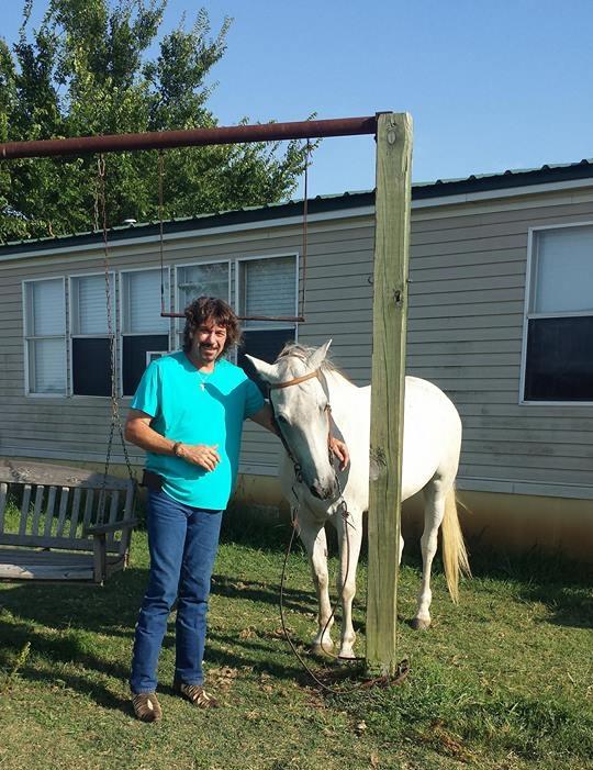 Sam Houston with his horse.