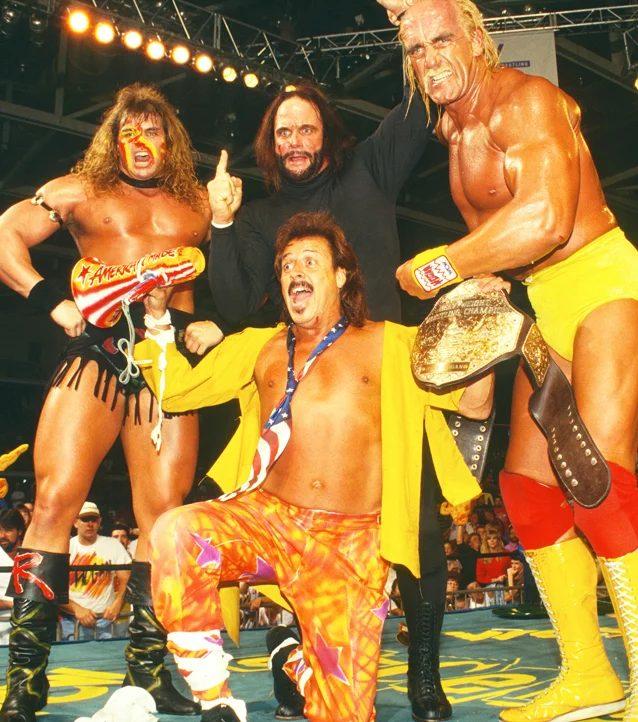 The Renegade debuts alongside Jimmy Hart, Randy Savage, and Hulk Hogan.