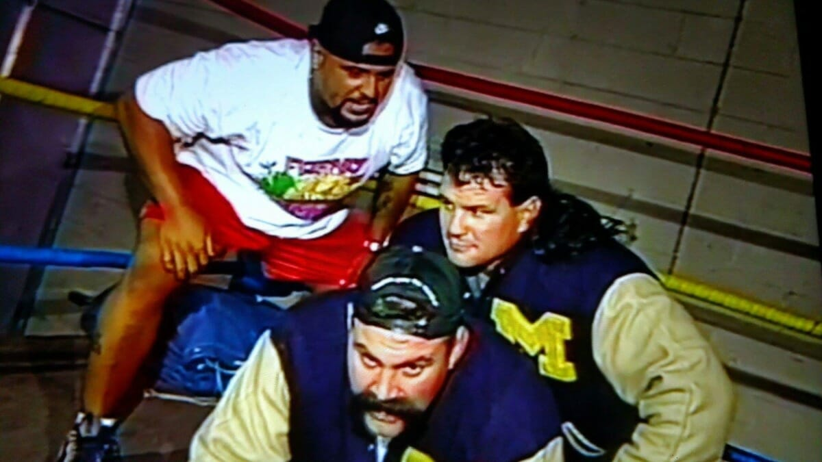 The Steiners with Taz in ECW