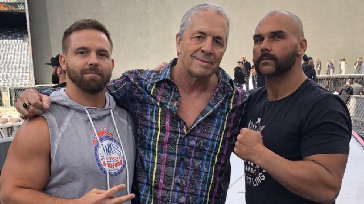 Bret Hart with The Revival (FTR) the day after the assault.