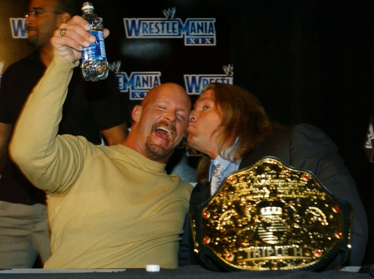 Triple H helped Stone Cold Steve Austin after a crazed fan attacked him in Germany.