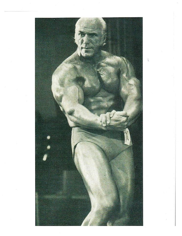 People's perception of how a pro wrestler should look changed when Superstar Graham came onto the scene. This photo is from the Pro Mr. America Contest, 1975.