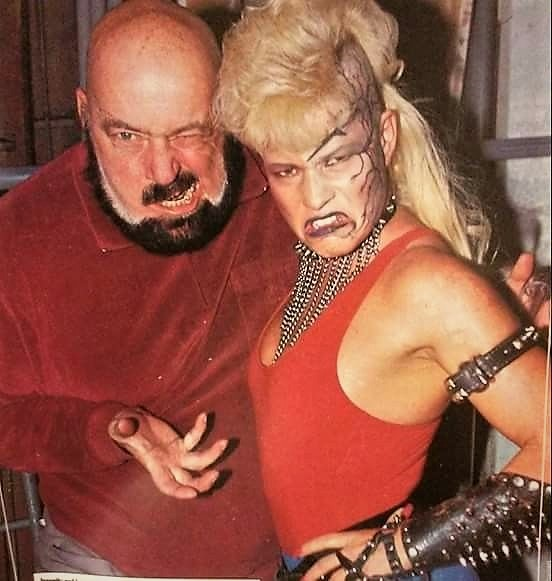 Seen here with her uncle Mad Dog Vachon, Luna Vachon once joked that she and her uncle were the only two in the family not allowed to sing due to their abrasive, gravelly voices.
