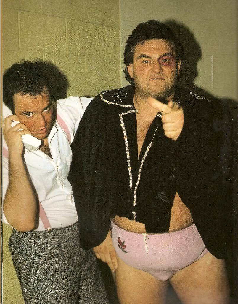 Paul E. Dangerously with Adorable Adrian Adonis.