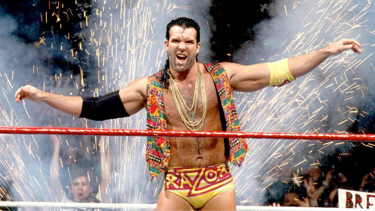 Scott Hall as Razor Ramon in the WWF.