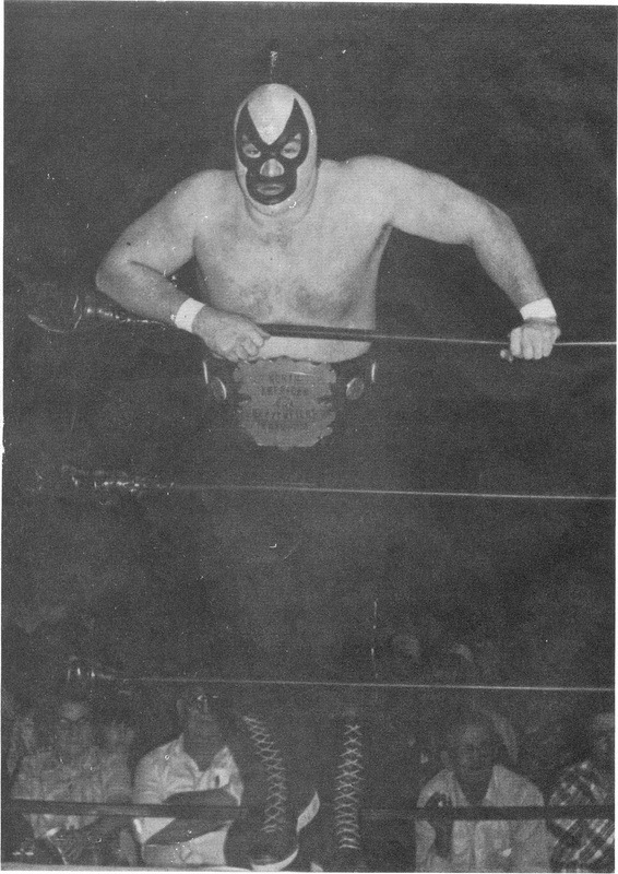 """The Grappler"" Len Denton with the Heavyweight Championship he held in Bill Watts's Mid-South Wrestling from Sept. 19th, 1980 to June 30th, 1981. He was the second longest reigning champion in the promotion's history, right behind Mr. Watts himself."