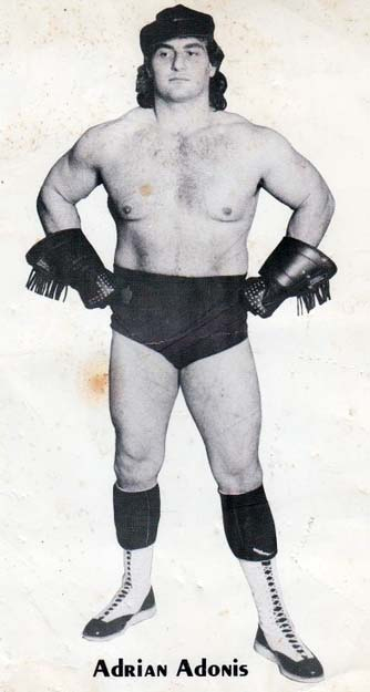 A young, leather-clad Adrian Adonis.
