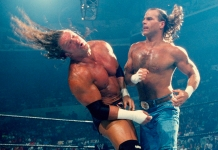 Triple H and Shawn Michaels do battle at SummerSlam 2002.