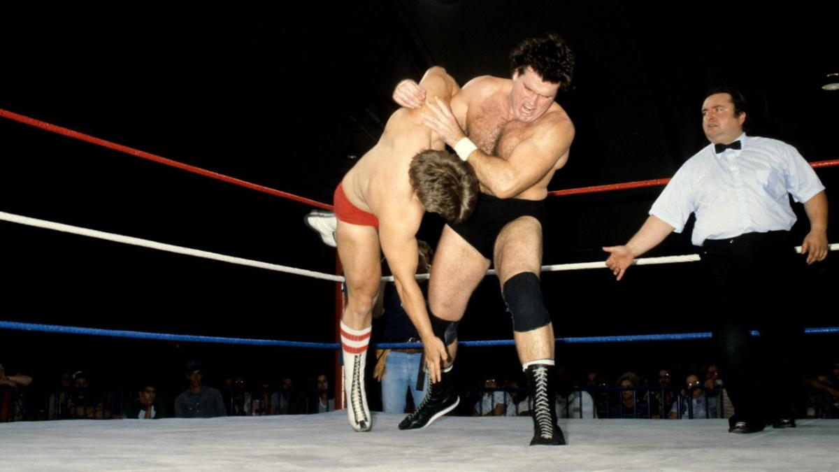 """""""Iron"""" Mike Sharpe entered the WWF in the early '80s and established himself as a contender for Bob Backlund's championship title."""