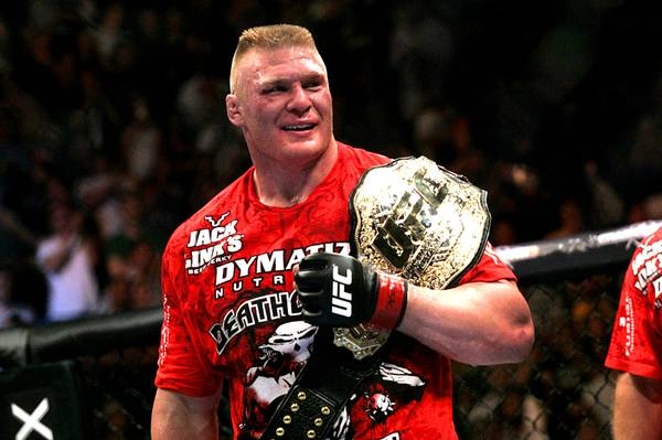Brock Lesnar had two successful UFC title defenses until losing two straight and retiring from MMA for five years. He later came back in 2016 but left again under controversial circumstances.