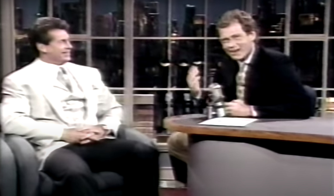 A moment of smiles for Vince McMahon and David Letterman.