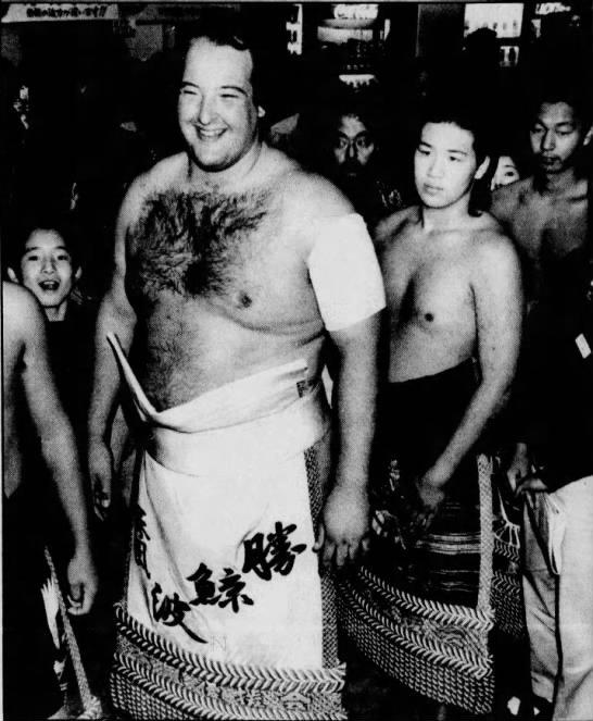 """Earthquake"" John Tenta during his sumo wrestling days."
