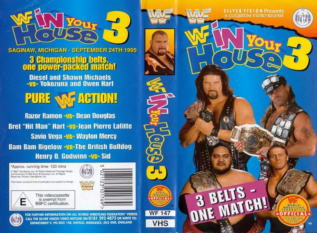 WWE In Your House 3: Triple Header pay-per-view poster.