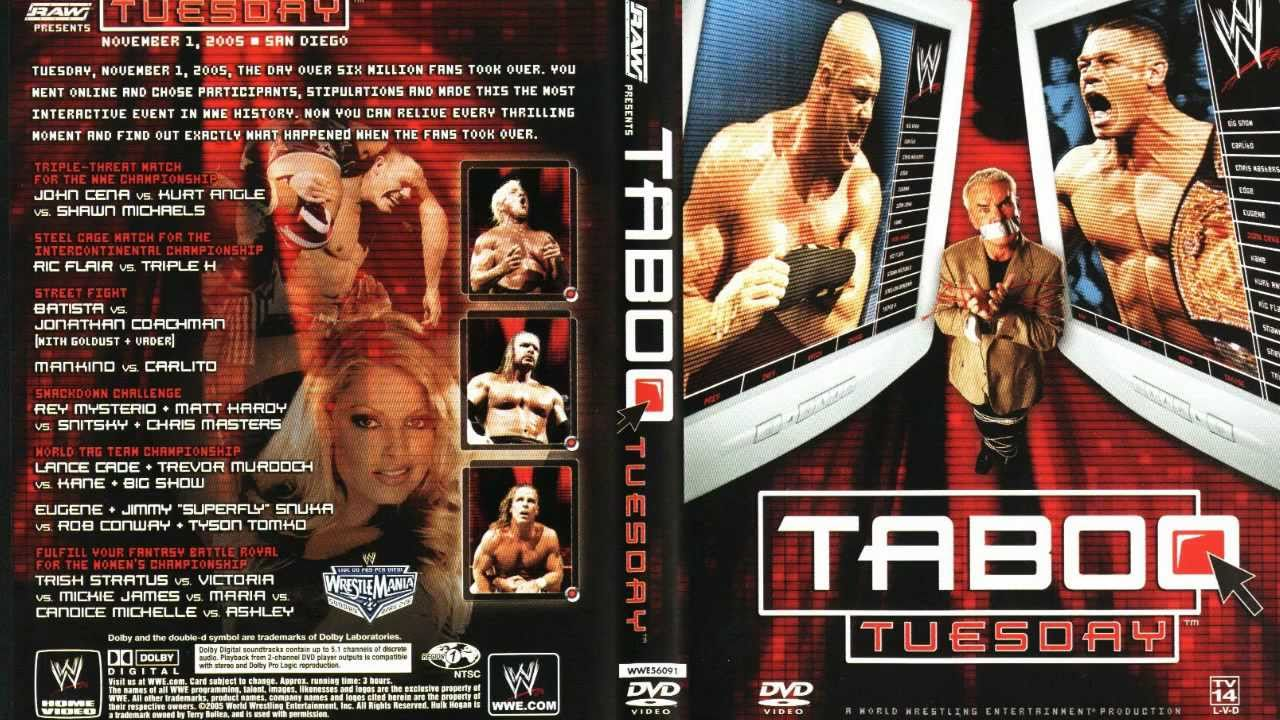 Match card for WWE Taboo Tuesday 2005 pay-per-view.