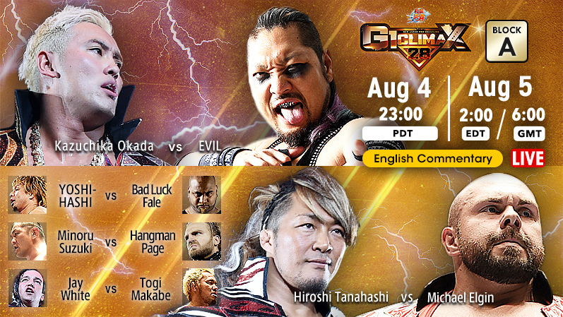NJPW G1 Climax 28 Results - August 5, 2018