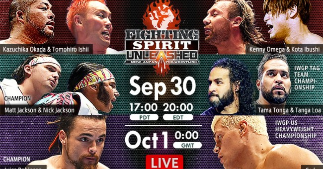 NJPW Fighting Spirit Unleashed Results