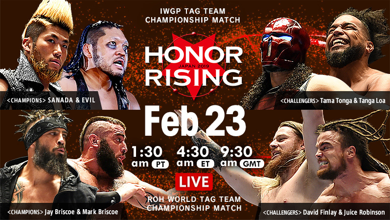 NJPW Honor Rising Results 2/23/19