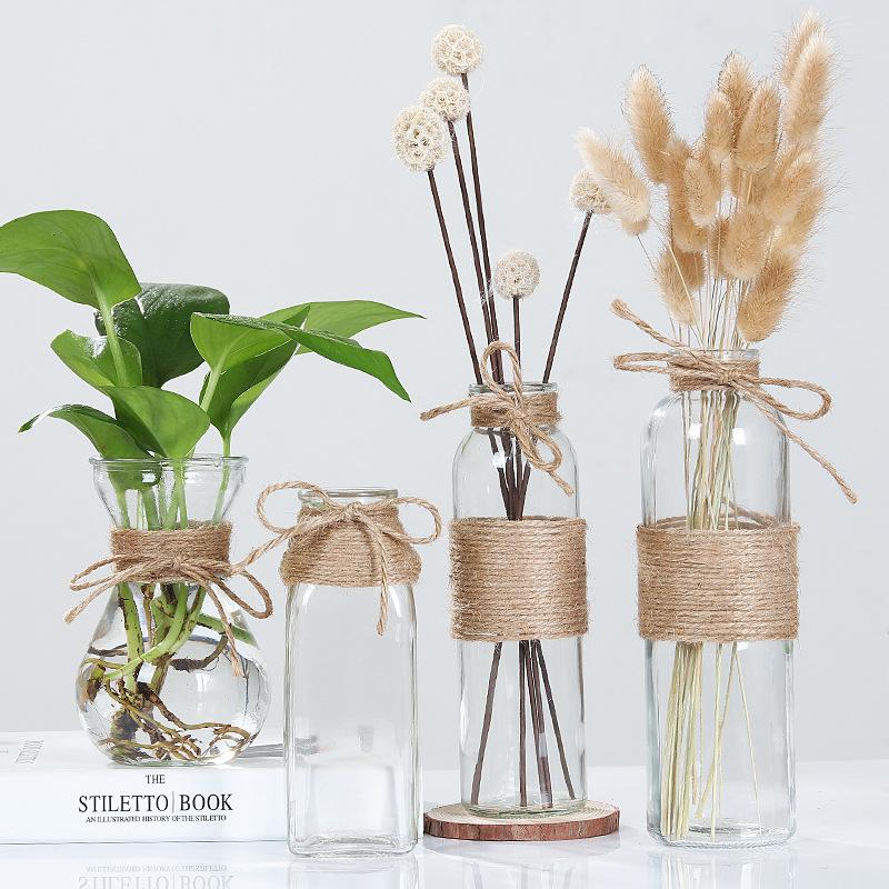 Creative Nordic Glass Bottle Vase
