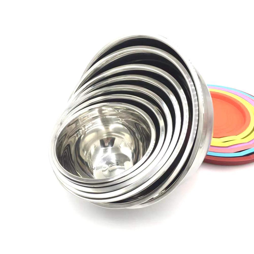 Stainless Steel Mixing Bowl Set 7 Pcs