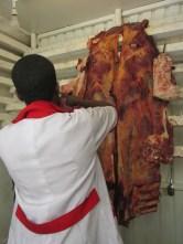 Las carnicerías en Addis Ababa, Etiopía