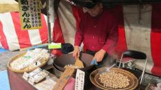 Comida callejera en el sur de Japón.