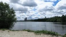 Parque en los suburbios cerca del estadio de Spartak de Moscú