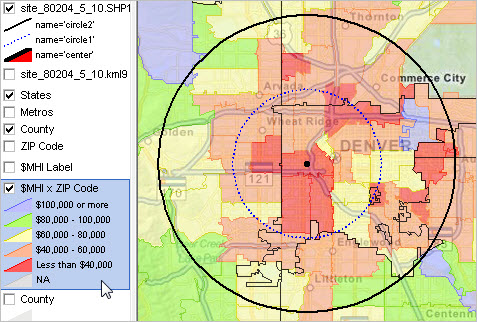 Tip of the Day – Median Housing Value by ZIP Code | Decision-Making Zip Code Radius Map on