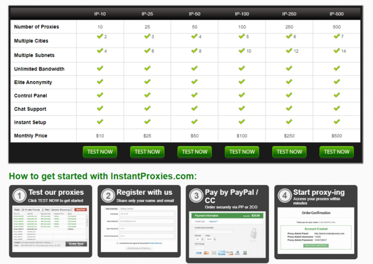 How to get started with InstantProxies.com: