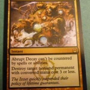 Abrupt Decay  black core