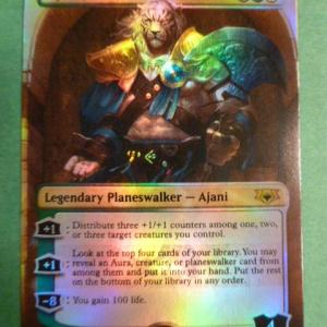 Ajani,Mentor of Heros Foil Mythic Edition black core