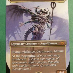 Atraxa, Praetors' Voice Box Topper double masters Holo black core