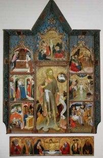 Taller dels Borrassà, Retaule de sant Joan Baptista, primer quart s. XIV, Musée des Arts Decoratifs, París