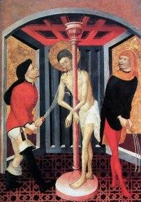 Francesc Borrassà (?), Retaule de la Passió de Crist, flagel·lació, primer quart s. XV, Musée Goya, Castres