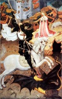 Bernat Martorell i taller, taula de Sant Jordi amb el drac, v.1434-1436, Art Institute of Chicago