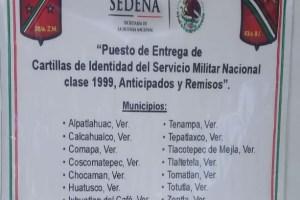 Invitan a liberar la Cartilla Militar, en Huatusco