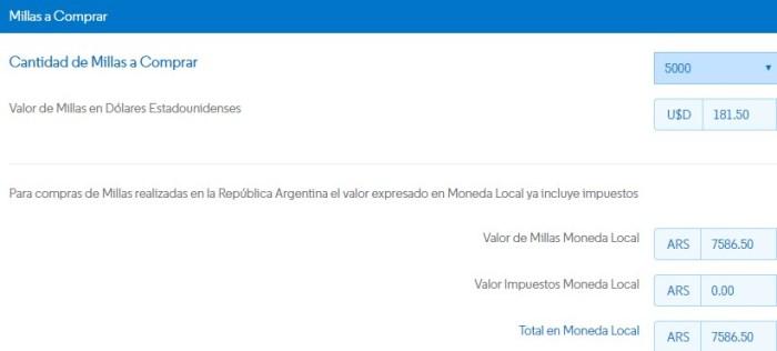 Conviene comprar millas promocion aerolineas argentinas 2
