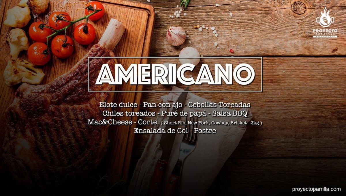 Menú Americano - Proyecto Parrilla Restaurante