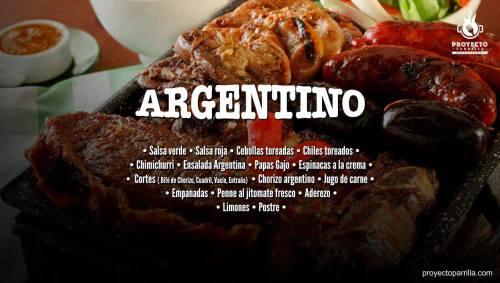 Menú Argentino - Proyecto Parrilla Restaurante