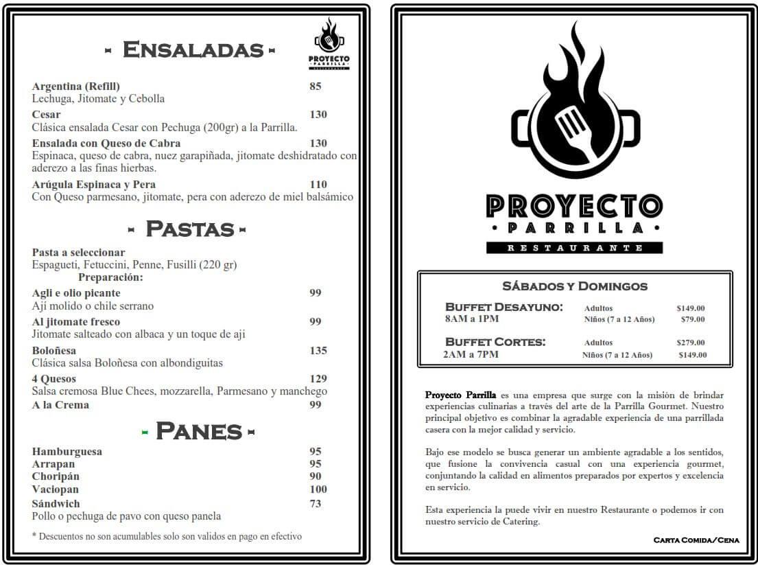 Menú Proyecto Parrilla Restaurante febrero 2019 4