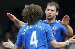 Ivanovic celebra el 2-1 con David Luiz