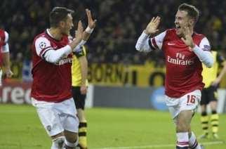 Ramsey celebra el 0-1