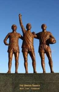 Estatua de la trinidad del Manchester United