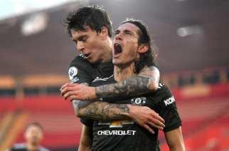 El United remonta en el primer gran partido de Cavani