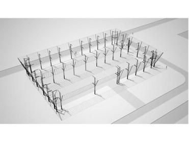 Esquema tridimensional estructural