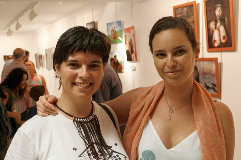 Elena Pedrosa y María García, coordinadoras de la exposición