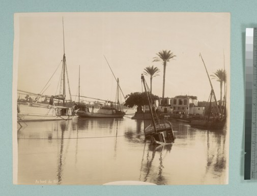 Barcos en el Nilo (c. 1865)