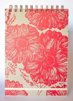 Cuaderno Liso Floreado