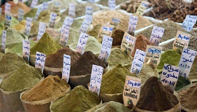 Marruecos-especias-zoco