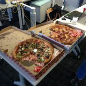 No hackathon is successful without pizza